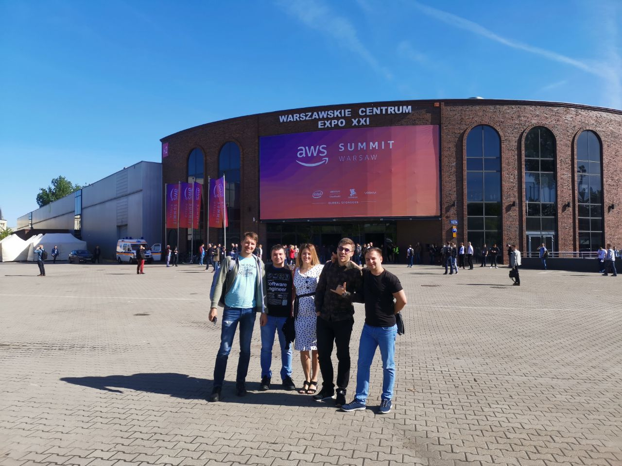Aimprosoft team at the AWS Summit in Warsaw