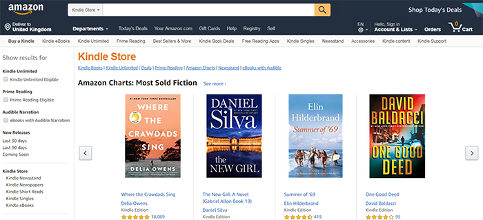 Today e-books selling on the Amazon marketplace created in the 90s