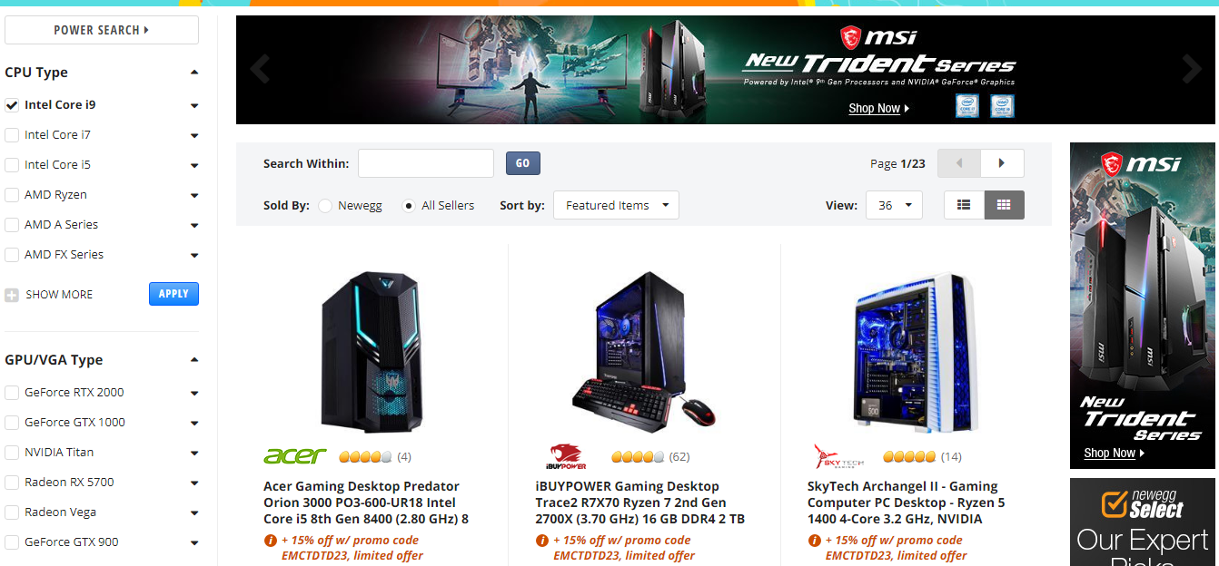 Physical products for gamers and developers on the Newegg marketplace