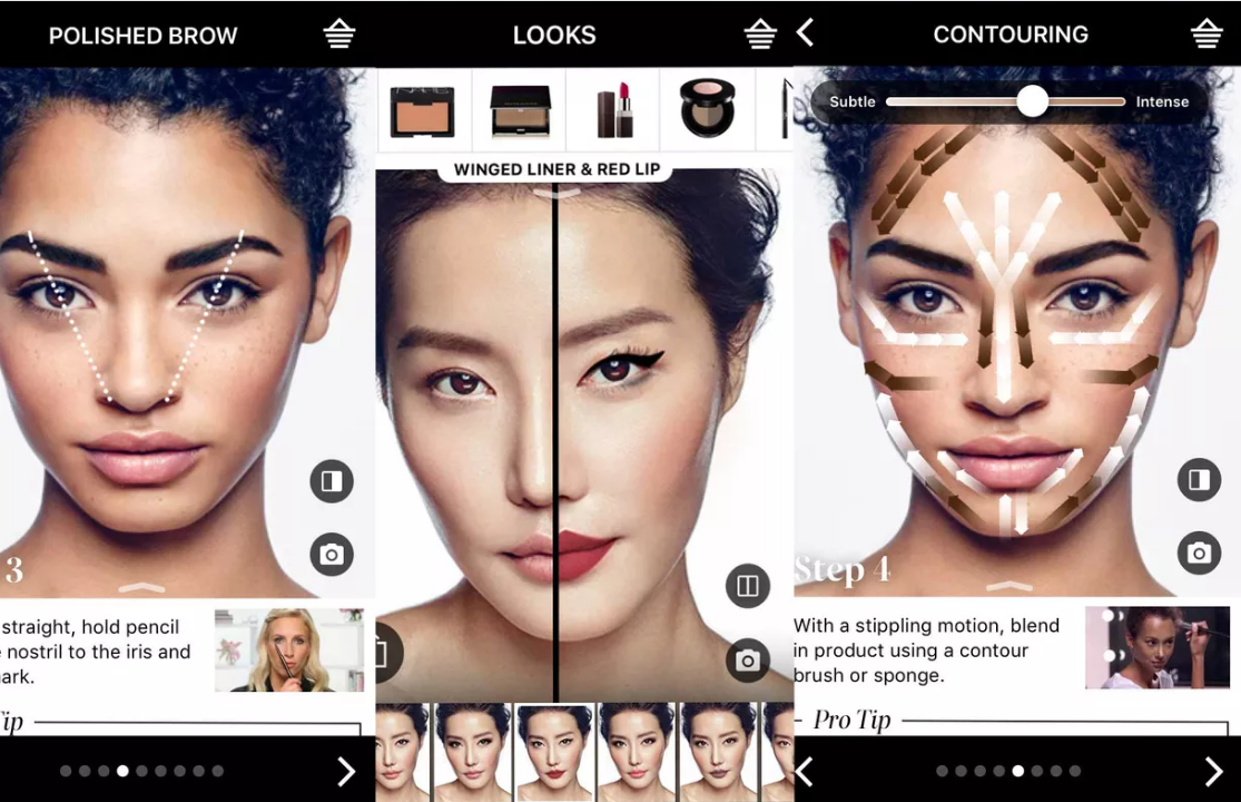 AR in Sephora Virtual Artist app