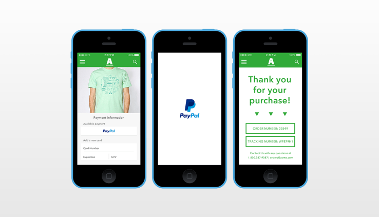 One-click purchase in e-commerce app