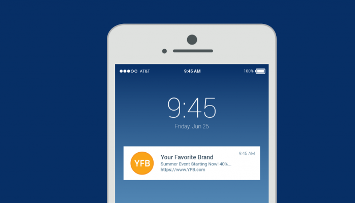 Design of push-notification app feature