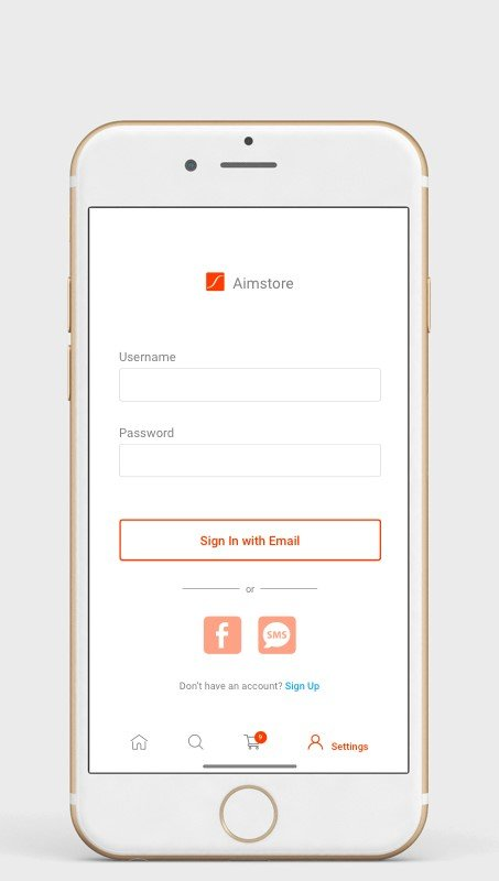 Sign-in process in e-commerce app