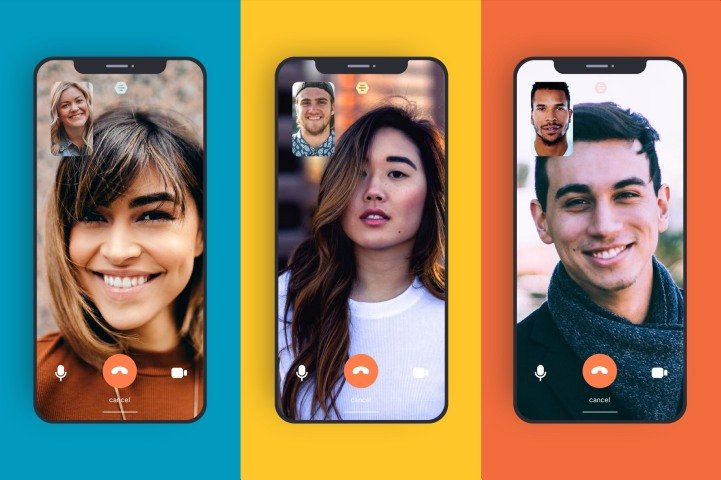The video chat feature in Bumble