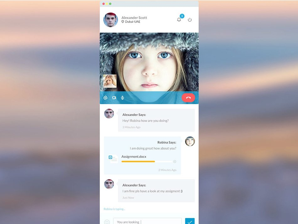 User Profile in a video chat app