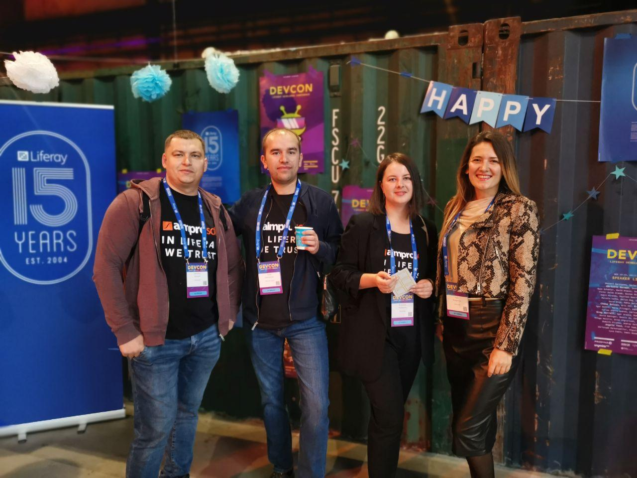 Aimprosoft team at Liferay Devcon 2019