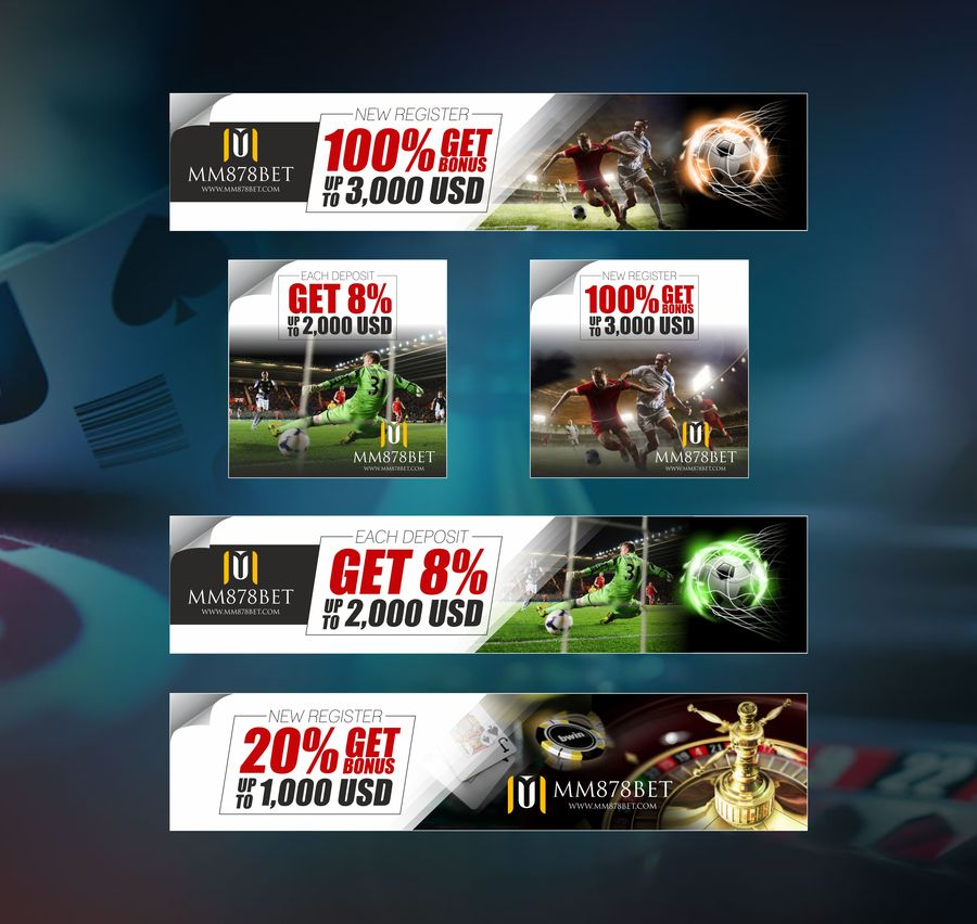 Banner design for sports betting site