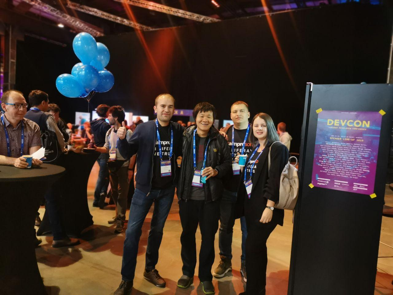 Aimprosoft team in the company of Brian Chan, Chief Software Architect and co-Founder of Liferay