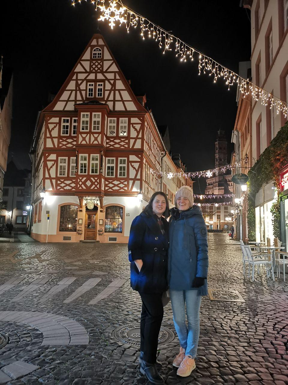 Enjoying our free time at Altstadt in Mainz