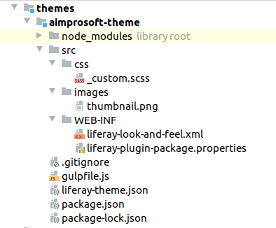 Theme files structure