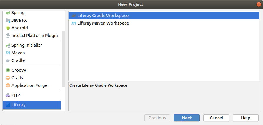 Creating Liferay project by plugin implementation