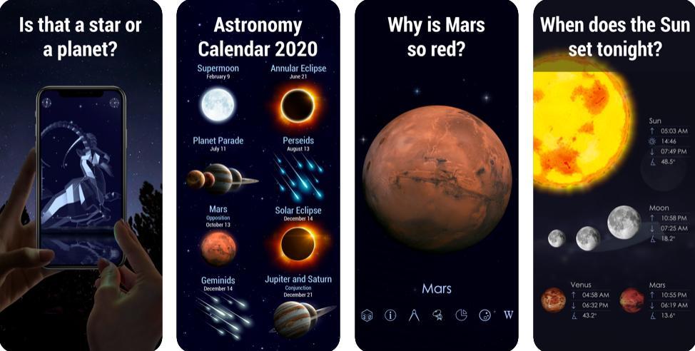 Screenshots of Star Walk 2 AR for iOS