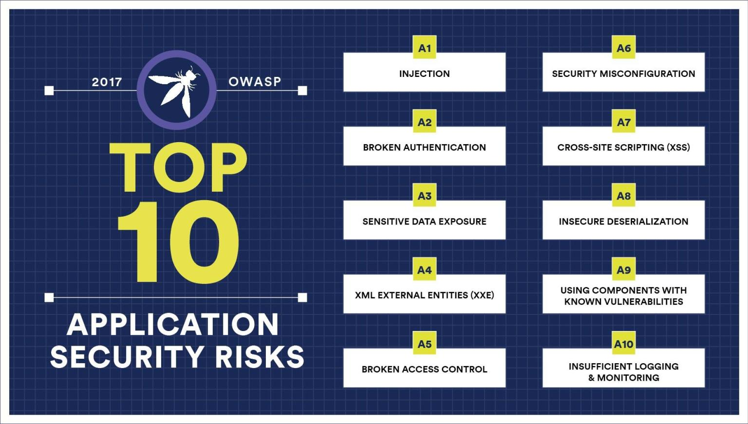 The current version of OWASP Top 10 vulnerabilities (2017)