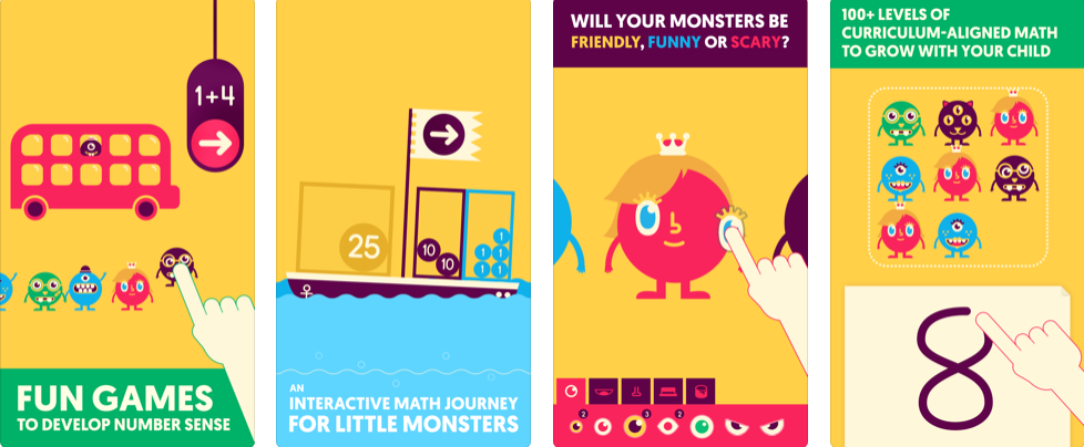 Screenshots of Quick Math Jr. for iOS