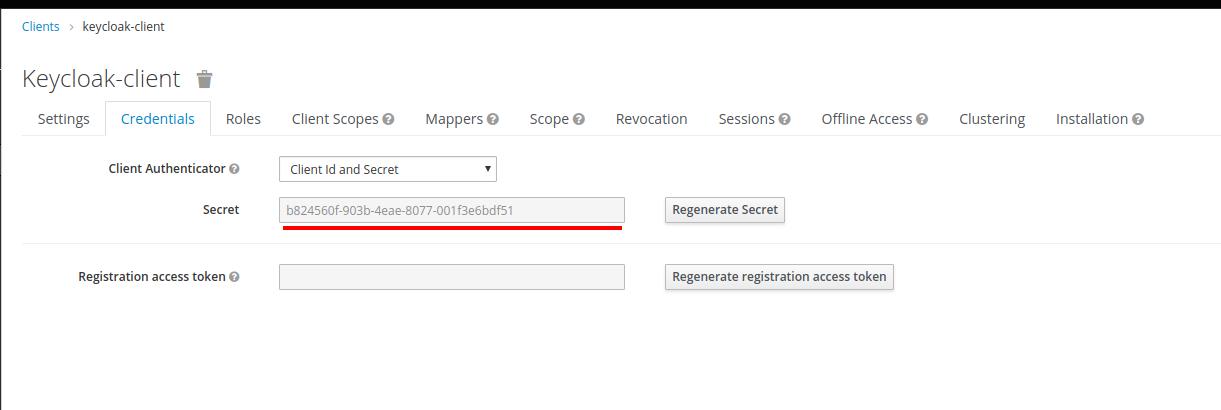 Keycloak Client credentials