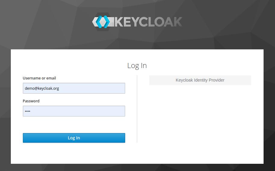 Keycloak Sign In form