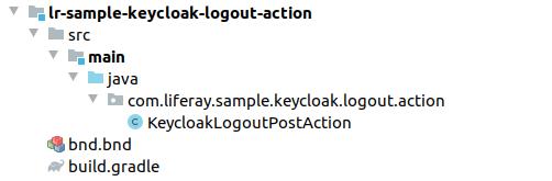 Keycloak Logout Action module files structure
