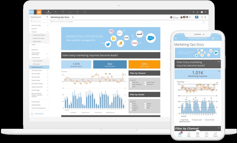 Data transformation in an analytics platform