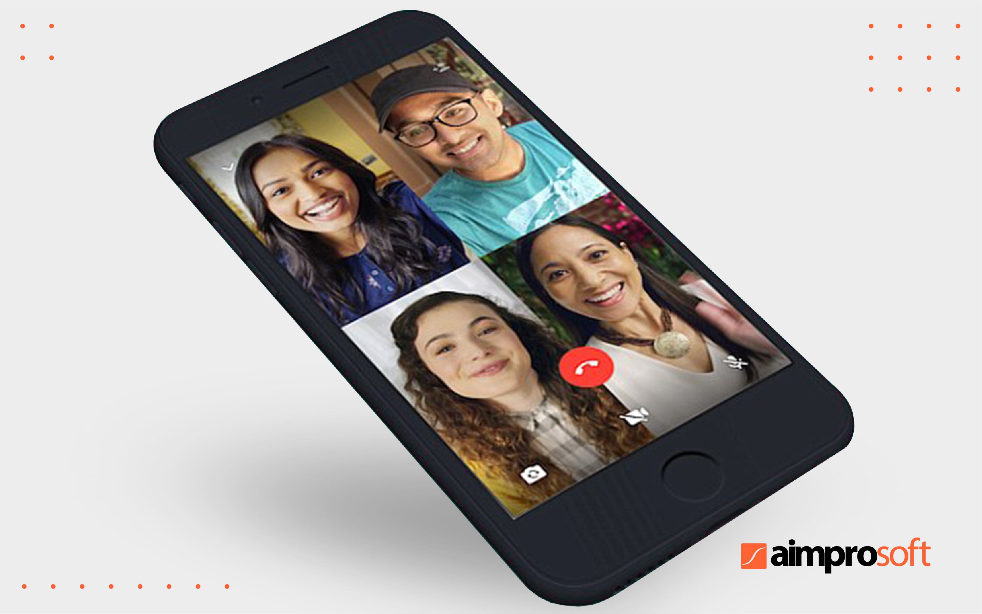 Group video chat in WhatsApp.