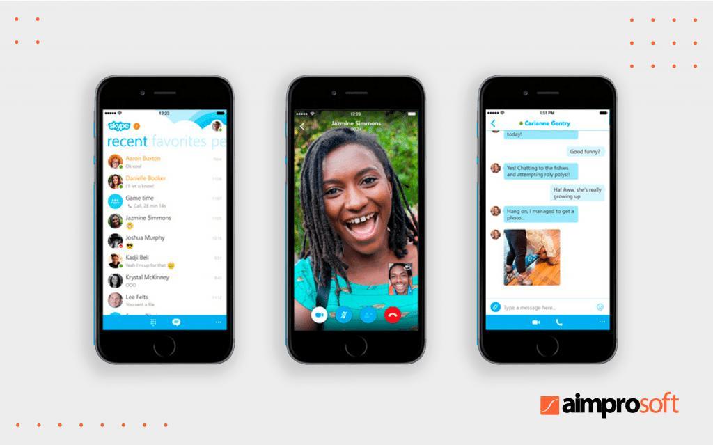 Interface of Skype