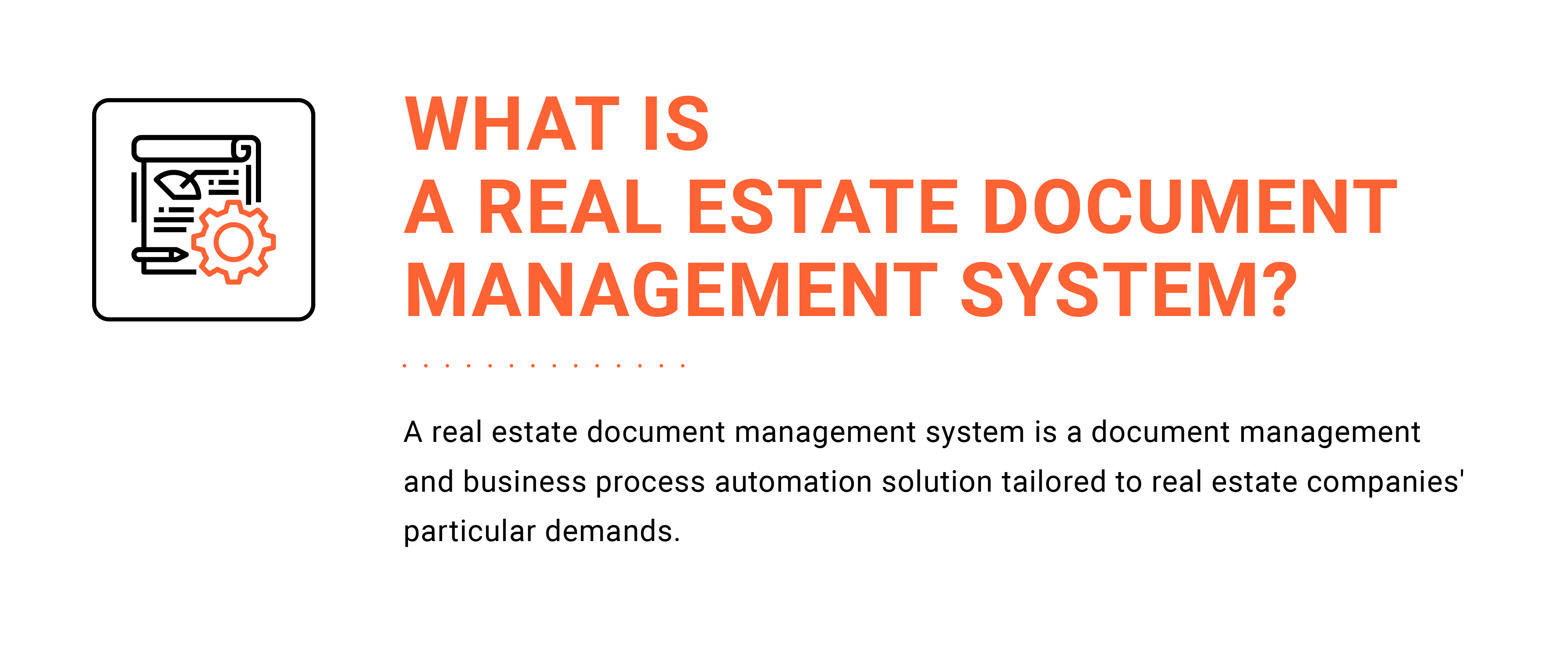 Definition of a document management system for real estate